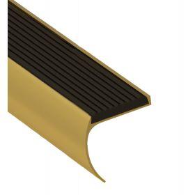 Trapprofiel afgerond goud 44 x 45 x 2700 mm - 5 Stuks