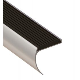 Trapprofiel afgerond zilver 44 x 45 x 1350 mm - 1 Stuk