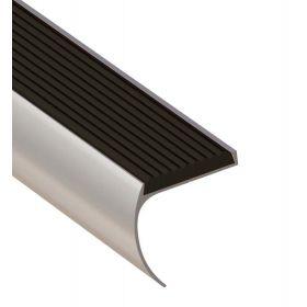 Trapprofiel afgerond zilver 44 x 45 x 1000 mm - 1 Stuk